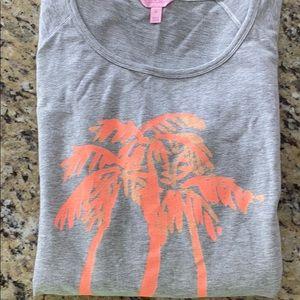 Lilly Pulitzer palm tree sweatshirt